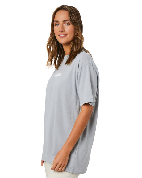FLAT GREY WOMENS CLOTHING STUSSY TEES - ST115008FGRY