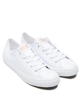 WHITE BLUSH GOLD WOMENS FOOTWEAR CONVERSE SNEAKERS - 568158WBG