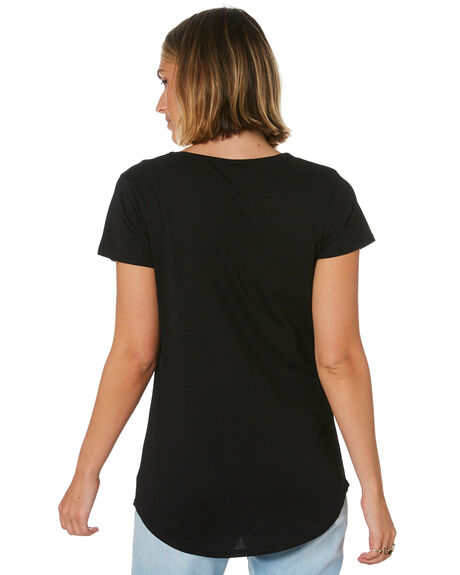 BLACK WOMENS CLOTHING AS COLOUR TEES - ASC4008BLK