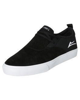 BLACK WHITE MENS FOOTWEAR LAKAI SLIP ONS - MS1190091A00BLKW