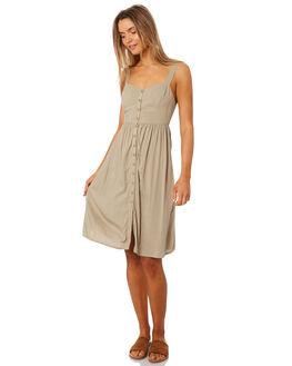 TAUPE WOMENS CLOTHING LILYA DRESSES - VLD26-PRSS18TAU