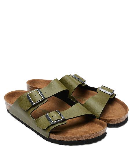 OLIVE MENS FOOTWEAR BIRKENSTOCK SLIDES - 1009982MOLIVE