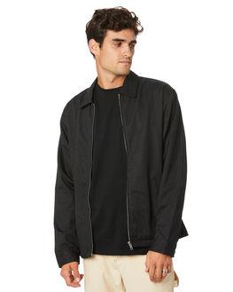 BLACK MENS CLOTHING THRILLS JACKETS - TW20-218BBLK