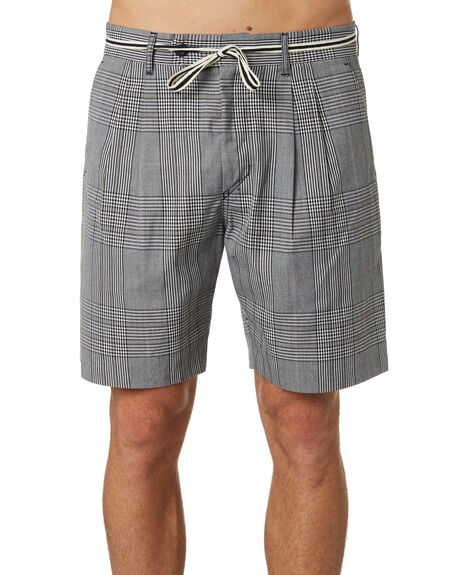 GREY OUTLET MENS ZANEROBE SHORTS - 608-WORDGRY