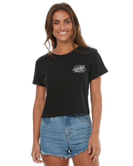 BLACK WOMENS CLOTHING SANTA CRUZ TEES - SC-WTD7491BLK