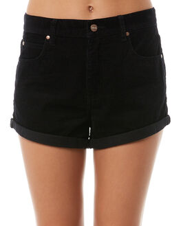 STONE BLACK WOMENS CLOTHING AFENDS SHORTS - W181303STBLK