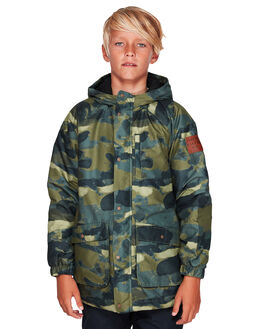 FOURLEAF CLOVER CAMO KIDS BOYS QUIKSILVER JUMPERS + JACKETS - EQBJK03163-GPH6