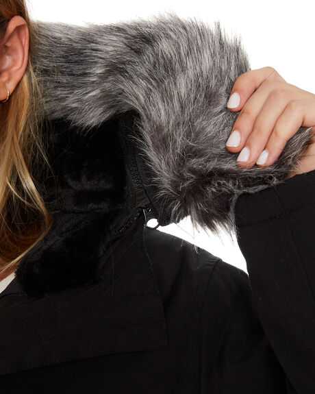 BLACK WOMENS CLOTHING RUSTY JACKETS - JKL0383BLK