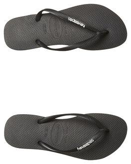 BLACK WHITE WOMENS FOOTWEAR HAVAIANAS THONGS - HSRL0133BLKWH