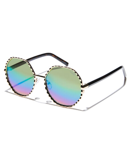 GOLD PURPLE WOMENS ACCESSORIES QUAY EYEWEAR SUNGLASSES - QW-000378GLDPU