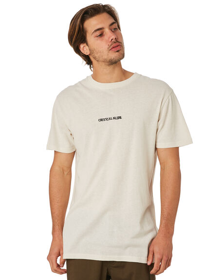 DIRTY WHITE OUTLET MENS THE CRITICAL SLIDE SOCIETY TEES - TE1872DWHT