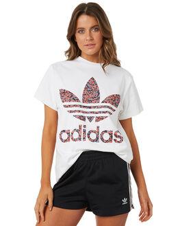 WHITE WOMENS CLOTHING ADIDAS ORIGINALS TEES - DH2986001A