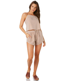 STRIPE TERRACOTTA WOMENS CLOTHING RUE STIIC SHORTS - RWS-19-52-3SNSTR