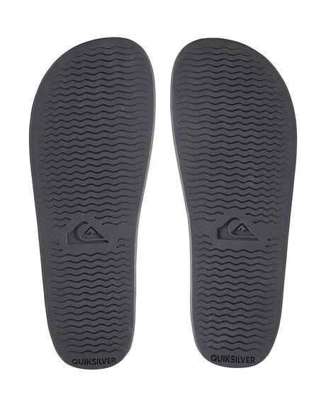 BLACK/BLACK/WHITE MENS FOOTWEAR QUIKSILVER THONGS - AQYL100867-XKKW