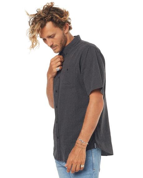 BLACK MENS CLOTHING EZEKIEL SHIRTS - ES164039BLK
