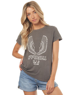 FADED GREY WOMENS CLOTHING THRILLS TEES - WTS7-108GFGREY