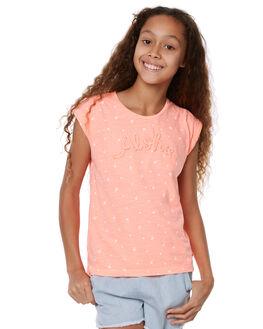 NEON CORAL KIDS GIRLS EVES SISTER TEES - 9900009COR