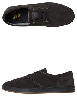 DARK GREY BLACK MENS FOOTWEAR EMERICA SKATE SHOES - 6102000089-023