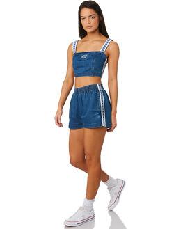 BLUE WOMENS CLOTHING STUSSY FASHION TOPS - ST183208BLU