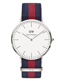SILVER MENS ACCESSORIES DANIEL WELLINGTON WATCHES - 0201DWSIL