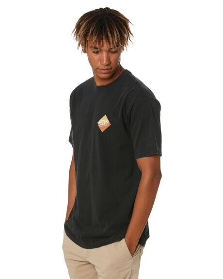 BLACK MENS CLOTHING BRIXTON TEES - 16296BLACK