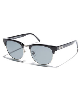 BLACK SILVER UNISEX ADULTS CRAP SUNGLASSES - 162U05PGBKSLV
