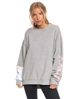 HERITAGE HEATHER WOMENS CLOTHING ROXY JUMPERS - ERJFT04140-SGRH