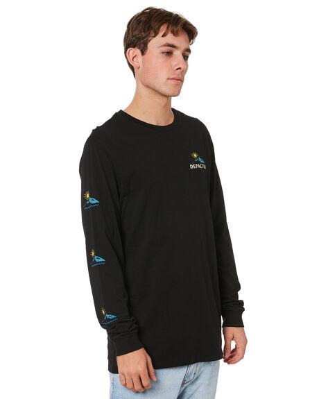 BLACK MENS CLOTHING DEPACTUS TEES - D5214101BLK