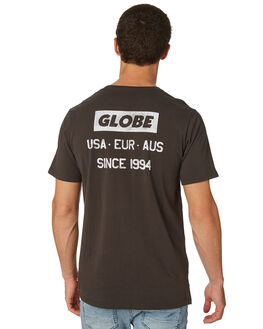 WASHED BLACK MENS CLOTHING GLOBE TEES - GB01810029WBLK