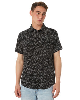 RVCA BLACK MENS CLOTHING RVCA SHIRTS - R382184RVBLK