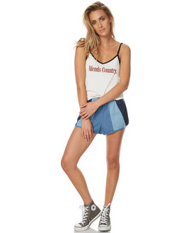 DENIM WOMENS CLOTHING AFENDS SHORTS - 52-01-088DEN