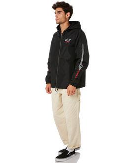 BEL AIR BLACK MENS CLOTHING BRIXTON JACKETS - 03261BELBK