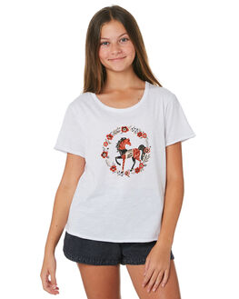 WHITE KIDS GIRLS SWELL TOPS - S6202001WHITE