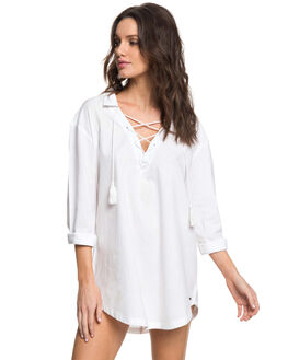BRIGHT WHITE WOMENS CLOTHING ROXY FASHION TOPS - ERJX603132WBB0