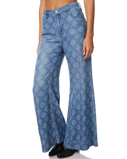 CHAMBRAY WOMENS CLOTHING TIGERLILY PANTS - T373372CHAM