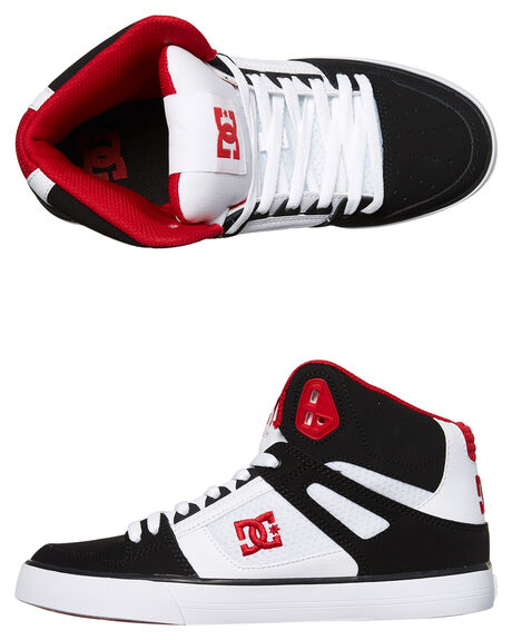 WHITE BLACK RED MENS FOOTWEAR DC SHOES SNEAKERS - ADYS400043XWKR