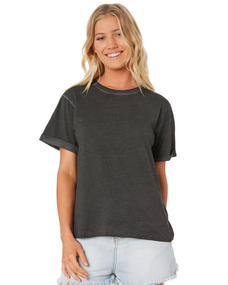 BLACK WOMENS CLOTHING SWELL TEES - S8188002BLACK