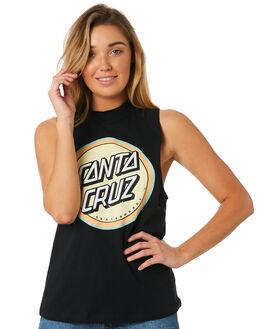 BLACK WOMENS CLOTHING SANTA CRUZ SINGLETS - SC-WTC8642BLK