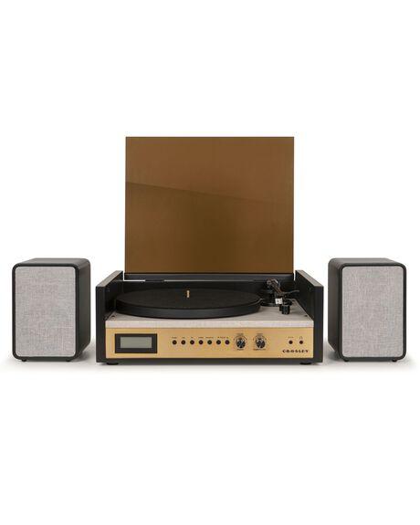 GOLD MENS ACCESSORIES CROSLEY AUDIO + CAMERAS - CR7017A-BK4