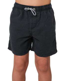 BLACK KIDS BOYS RIP CURL BOARDSHORTS - KBOVL20090