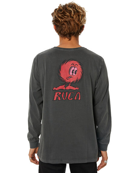 BLACK MENS CLOTHING RVCA TEES - R181094BLK