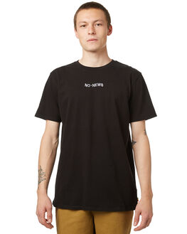 VINTAGE BLACK MENS CLOTHING NO NEWS TEES - N5174000VBLK