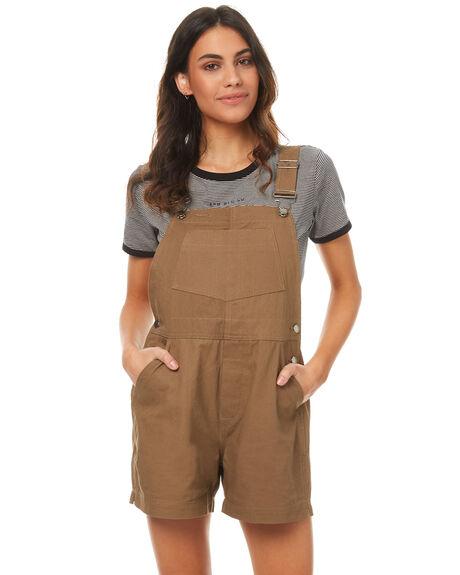 TAN WOMENS CLOTHING RPM PLAYSUITS + OVERALLS - 7PWB04ATAN