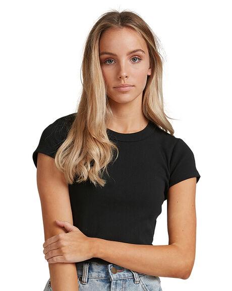 BLACK WOMENS CLOTHING BILLABONG FASHION TOPS - BB-6503176-BLK