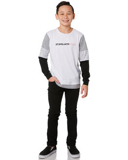 WHITE KIDS BOYS ST GOLIATH TOPS - 2432016WHT