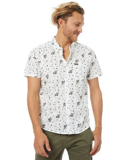 ANTIQUE WHITE MENS CLOTHING RVCA SHIRTS - R372184AWHT