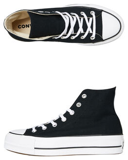 BLACK WOMENS FOOTWEAR CONVERSE SNEAKERS - 560845-BLK