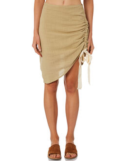 OLIVE WOMENS CLOTHING ZULU AND ZEPHYR SKIRTS - ZZ2231OLI