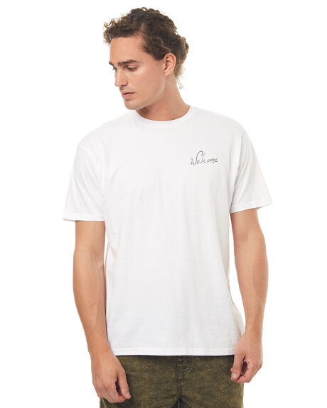 WHITE MENS CLOTHING WELCOME TEES - STORYBKWHT