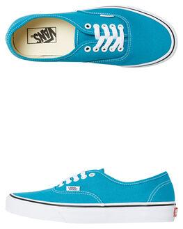 ENAMEL BLUE WOMENS FOOTWEAR VANS SNEAKERS - SSVNA38EMU65BLUW